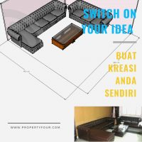 layout Sofa L sudut chesterfield