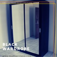 Jasa pembuatan lemari Black Wardrobe