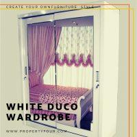 Jasa Pembuatan lemari White Duco Wardrobe