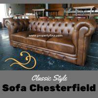 Sofa cafe chesterfield 3 dudukan