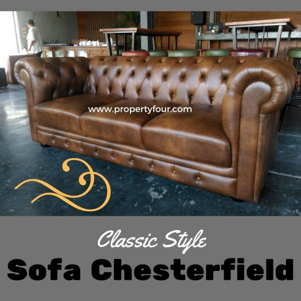 Sofa cafe chesterfield 3 dudukan