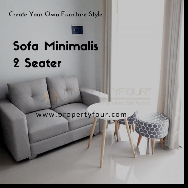 sofa minimalis 2 dudukan