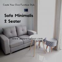 Sofa 2 dudukan minimalis