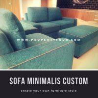 sofa minimalis 2 1 meja custom
